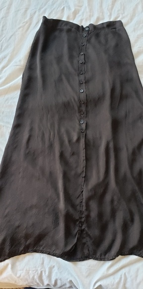 unknown Dresses & Skirts - A-Line Long silk skirt with buttons
